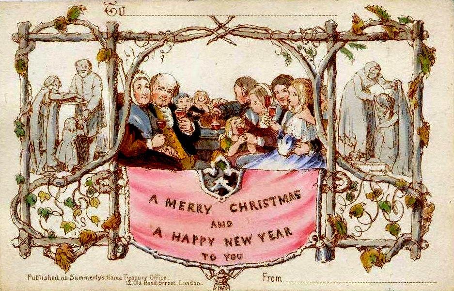 Днем рождения, первая поздравительныя открытка